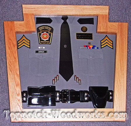 State police custom shadow box