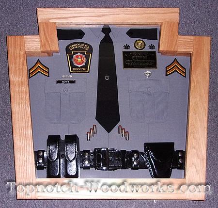 State police first responder custom shadowbox