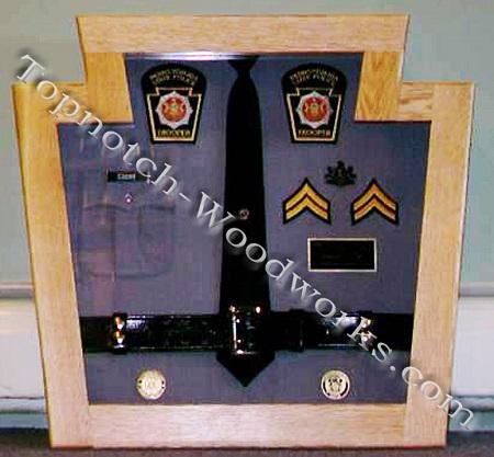 State trooper shadow box