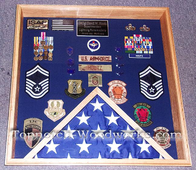 UASF Reserve military shadow box