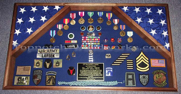 US Army Military shadow box