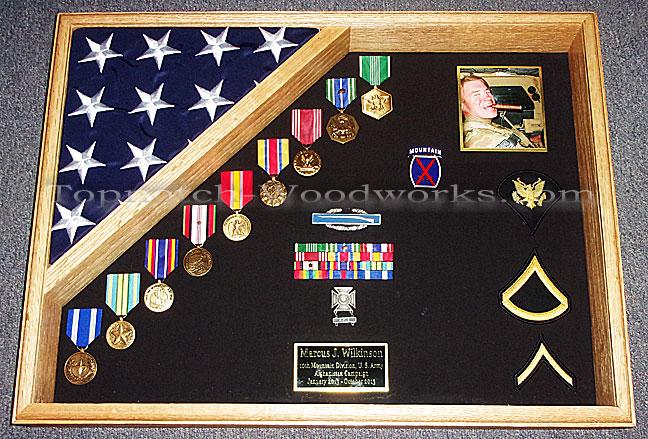 US Army Retirement shadow box