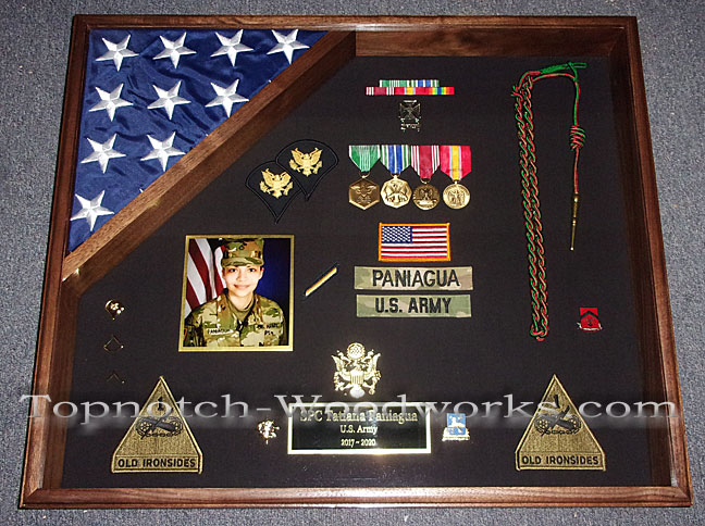 US Army Shadow box with flag