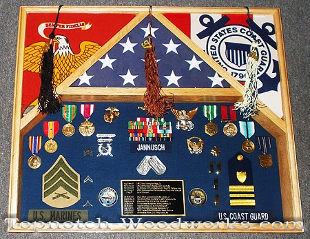 US Army military shadow box