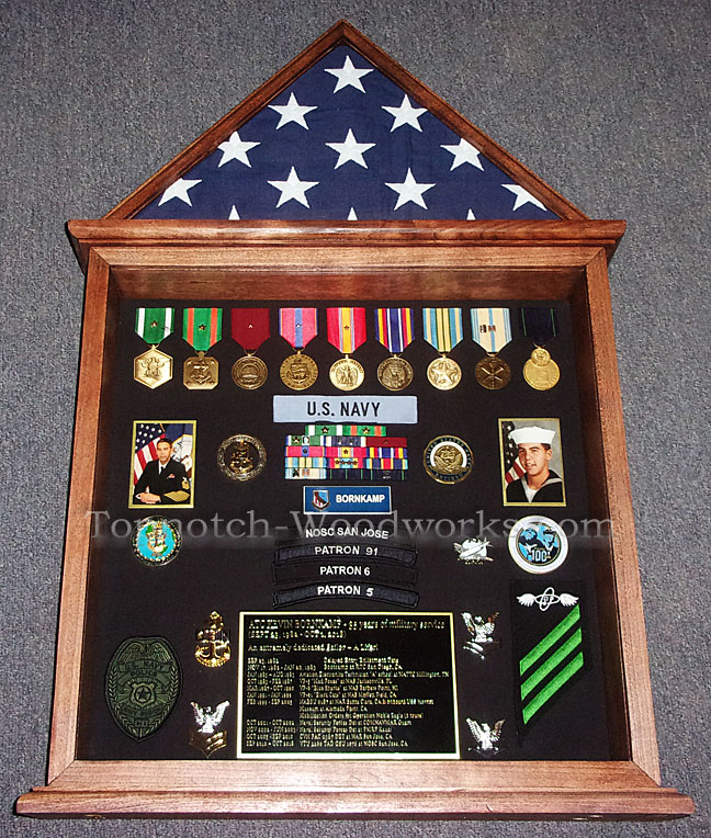 US Navy Doghouse military shadow box