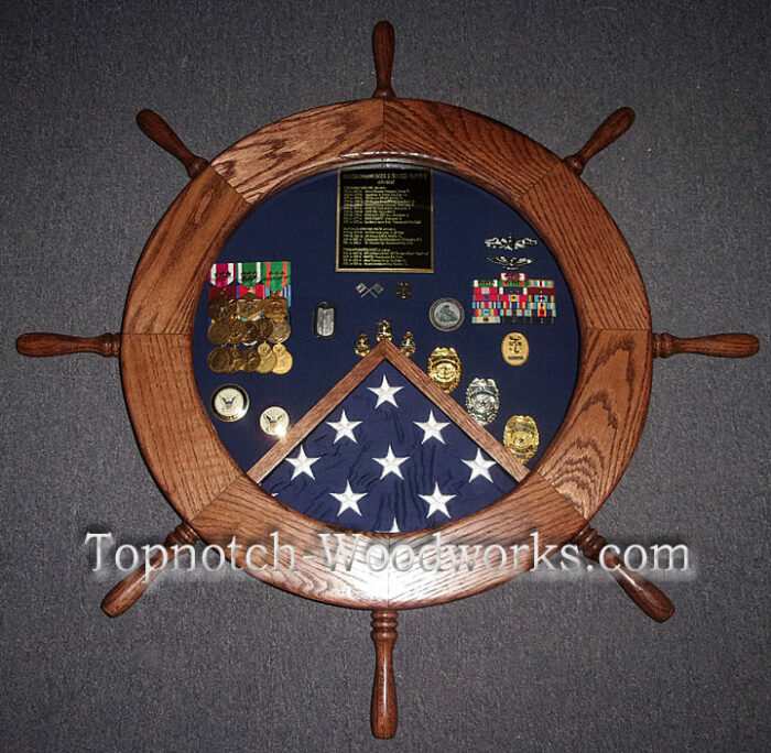 US Navy Helm shadow box police