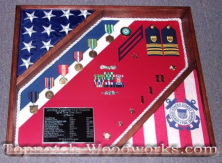 US Navy Shadow box with rope trim
