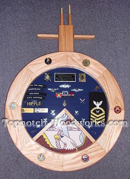 US Navy Submarine shadow box