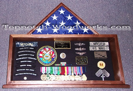 US Navy custom Shadow box