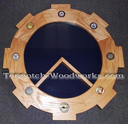 US Navy custom military shadow box