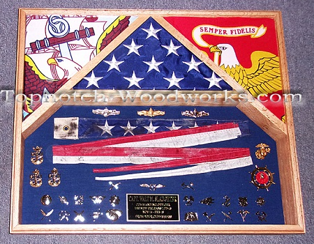 US Navy pennant shadow box