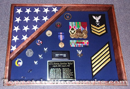 US Navy small shadow box