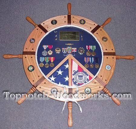 US navy Helm Shadow box