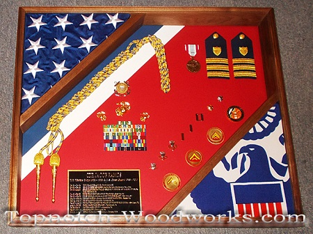 US navy shadow box display case