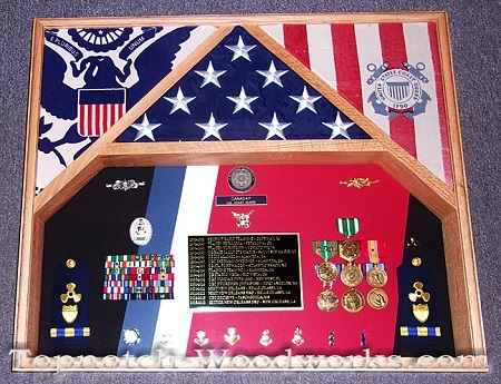 USAF 2 flag military shadow box