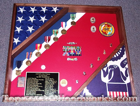 USAF 2 flag shadow box and display