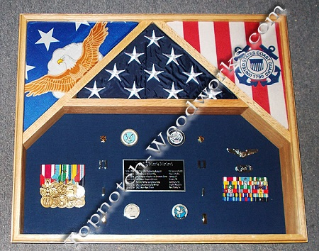 USAF 3 flag shadow box
