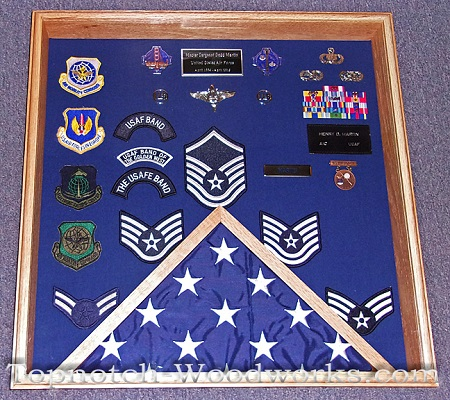 USAF MSgt Shadow box