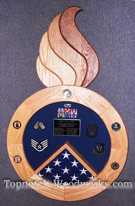 USAF Military Shadow box