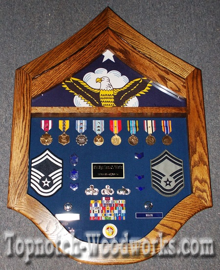 USAF SMSgt shadow box