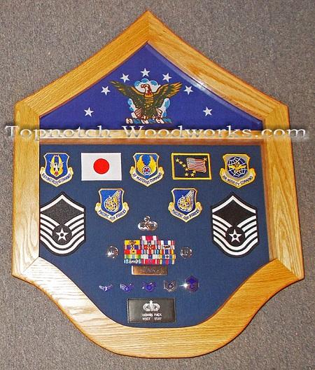 USAF military shadow box