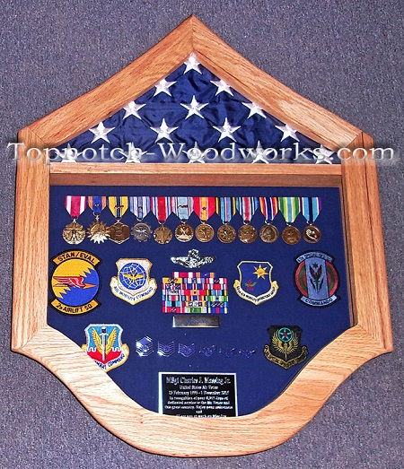 USAF shadow box for MSgt