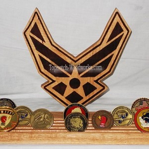 USAF symbol coin display