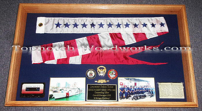 USCG Commissioning Pennant Display case