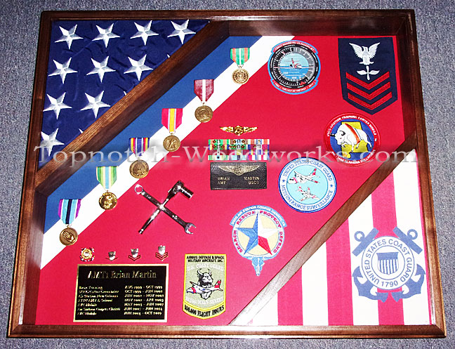 USCG SHadow box with patches