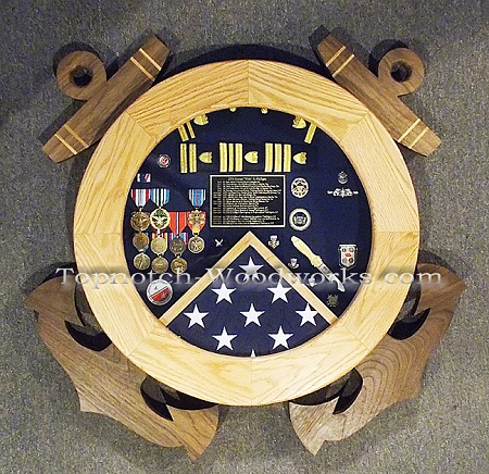 USCG Sheild and anchors shadow box
