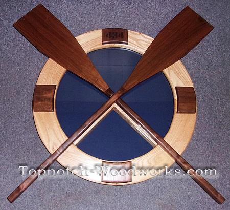 USCG Surfman shadow box with oars