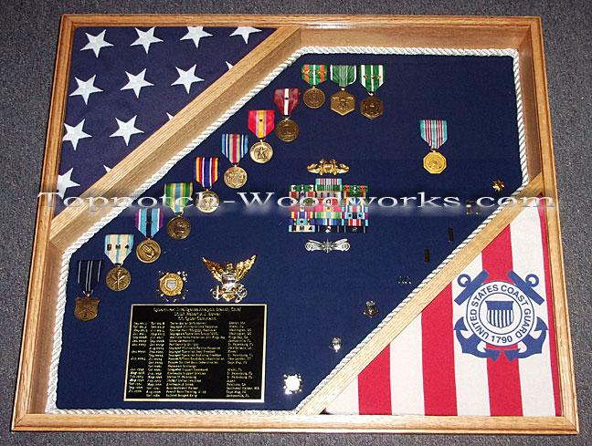 USCG military shadow box