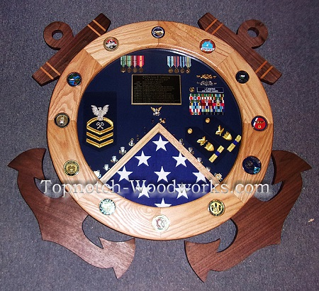 USCG shadow box with anchors
