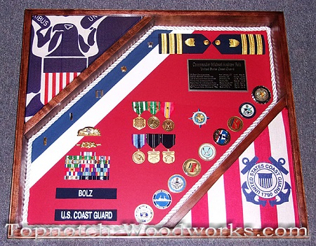 USCG shadow box with rope trim