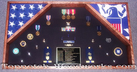 USMC Large double flag shadow box