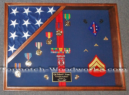 USMC corporal shadow box