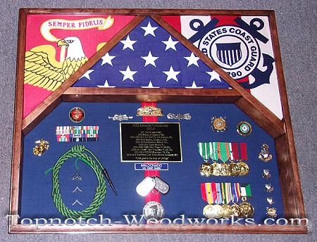 USMC military retirement shadow box
