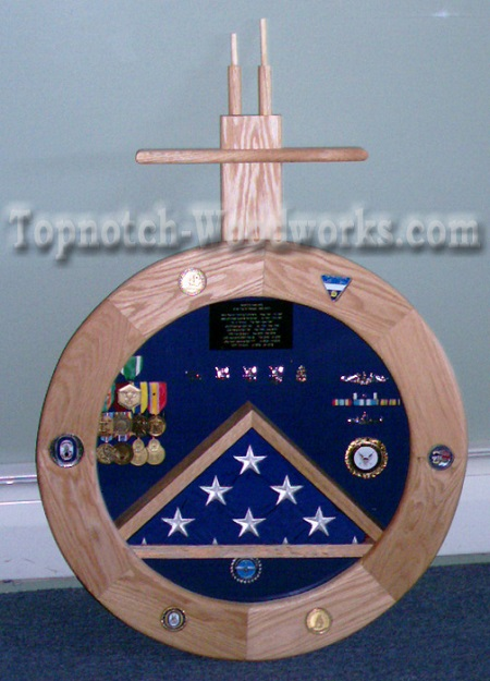 USN submarine shadow box