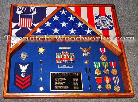 USPHS shadow box with flags
