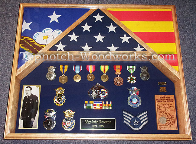 Vietnam Veteran Military shadow box