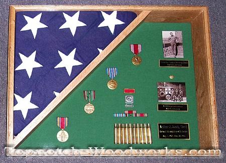 WW2 burial shadow box