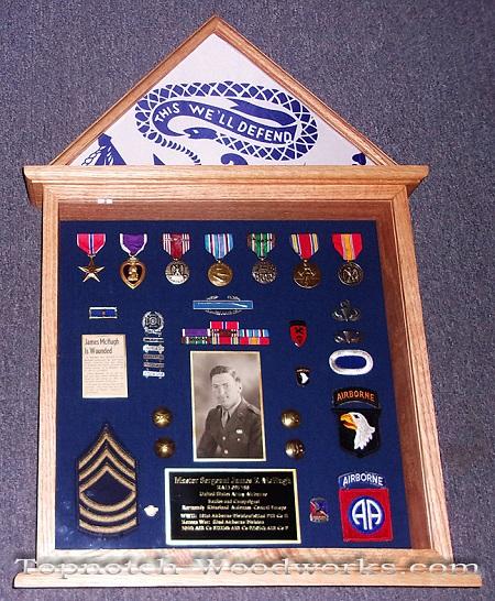 WW2 military shadow box