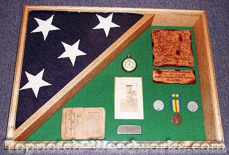 World war one military shadow box