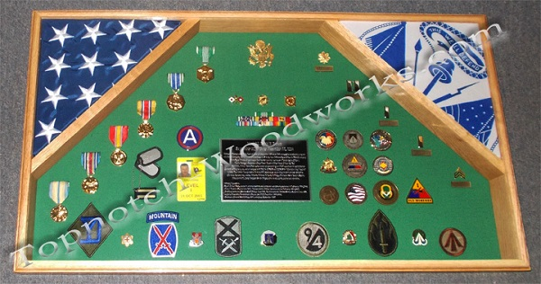 army 2 flag display case and shadow box