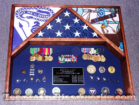 army navy military shadow box