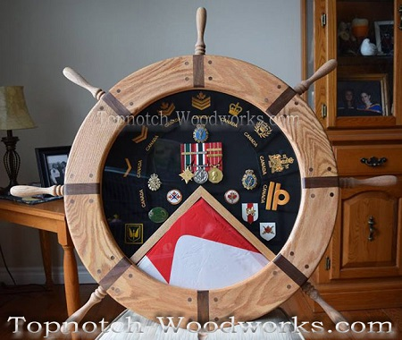 canadian navy helm shadow box
