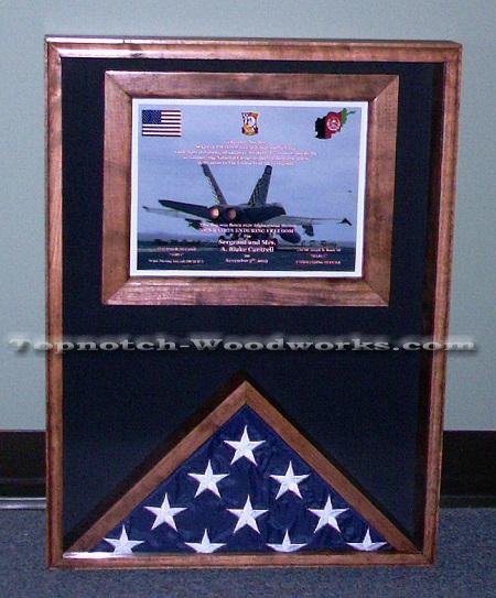 certificate flag case display