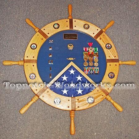 custom Navy Shadow box