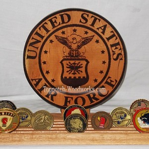 custom coin rack usaf old