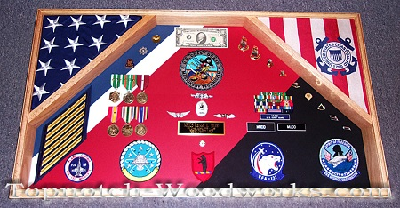 custom military shadow box